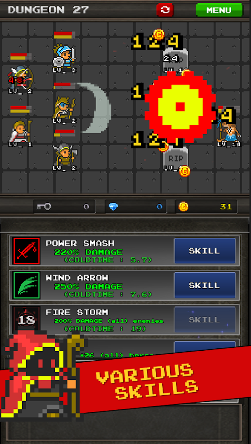 Pixel Heros - Idle RPG Screenshot 1