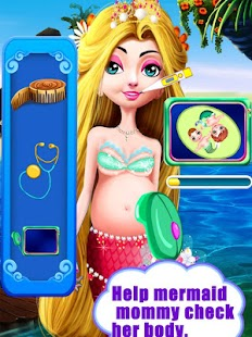 Pregnant Mermaid Baby Care- screenshot thumbnail