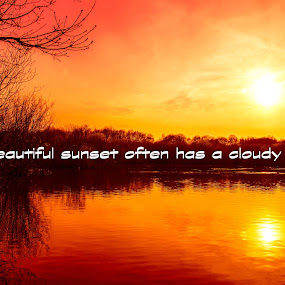 Sunset over the lake by Bearded Egg - Typography Quotes & Sentences