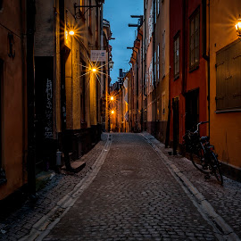 Old city Stockholm by Kennet Brandt - City,  Street & Park  Historic Districts