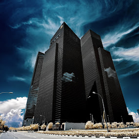 Financial Castle by Jimmy Chiau - Buildings & Architecture Other Exteriors ( pwclandmarks, infrared, mbfc, buildings, architecture, singapore )