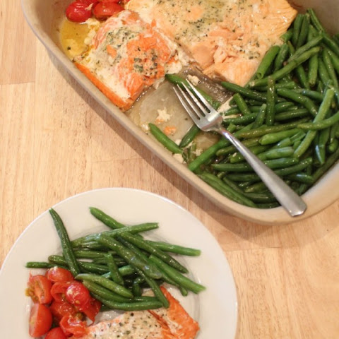 One Pan Baked Salmon & Vegetables
