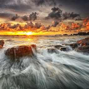 Wax by Hendri Suhandi - Landscapes Beaches ( bali, nature, sunset, rock, beach, landscape )