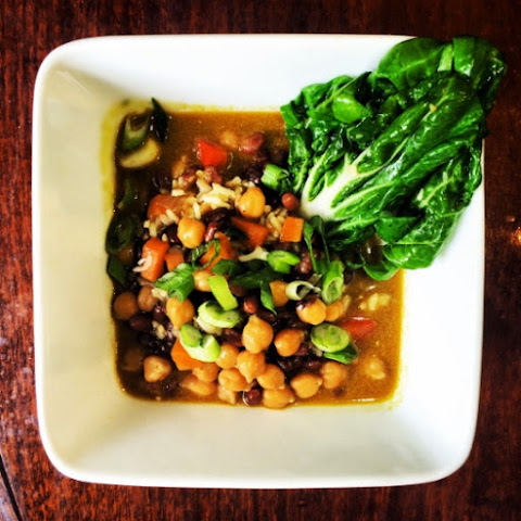 Vegan Curry Chick Peas and Bean