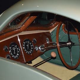 1935 Bugatti Aerolithe (Console) by Ada Irizarry-Montalvo - Transportation Automobiles