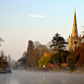 Stratford Upon Avon by Terence Lim - Landscapes Waterscapes ( fog, scenery, sunrise, mist )