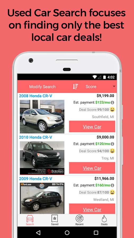 Used Car Finder - Used Car Search Suvs Cars Trucks For Sale Android