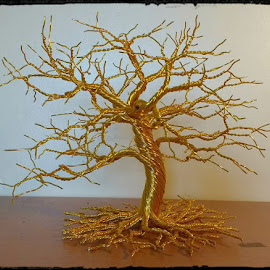 Golden Tree by Vitor Diecenes - Artistic Objects Other Objects