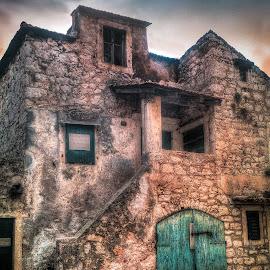 Old Manor by Branko Meic-Sidic - City,  Street & Park  Street Scenes ( oldtown, hdr, stonehouse, street, croatia, pirovac )