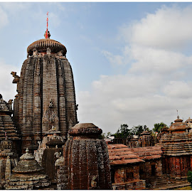 Lingaraj temple by Prasanta Das - Buildings & Architecture Architectural Detail ( temple, hindu, odishan style, carvings, stone, worship )