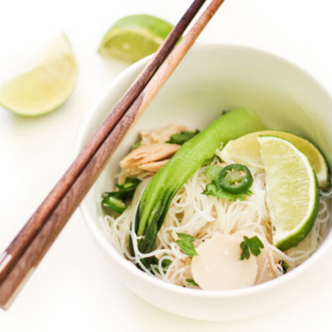 Rice Vermicelli Summer Salad with Serrano Peppers
