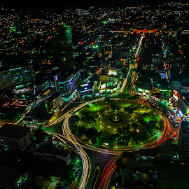 CEBU CITY NIGHTLY LIGHT by Voltaire Anthony Rosario - City,  Street & Park  Street Scenes ( lights, city view, night photography, buildings, city that never sleeps, city at night, street at night, park at night, nightlife, night life, nighttime in the city )