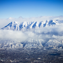 Mt. Timpanogas by Aaron Allgrunn - Landscapes Mountains & Hills ( clouds, mountain, winter, snow, mt. timpanogas, provo )