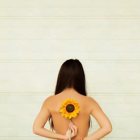 .. SunFlower ..  by Viktorija Golubić - People Fine Art