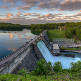 Norris Dam by R Jay Prusik - Landscapes Waterscapes