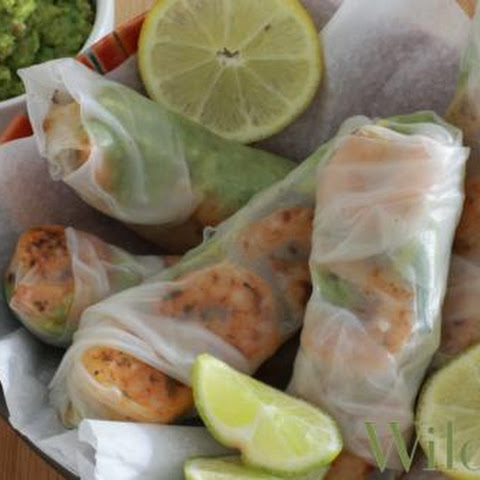Chipotle Shrimp & Guacamole Rice Paper Wraps