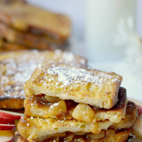 Caramel Apple Stuffed French Toast