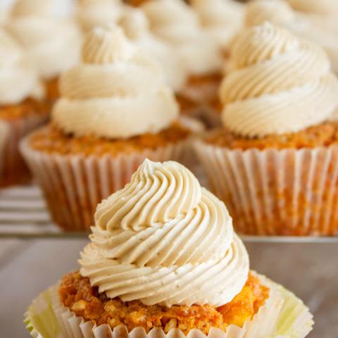 Carrot Cake Cupcakes with Brown Sugar Swiss Meringue Buttercream