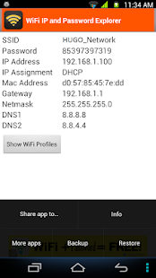 WiFi Password, IP, DNS for Lollipop - Android 5.0