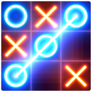 Tic Tac Toe glow - Free Puzzle Game For PC (Windows & MAC)