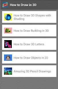 how to draw in 3D - screenshot