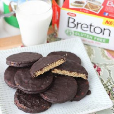 Chocolate Covered Almond Butter Cracker Cookies