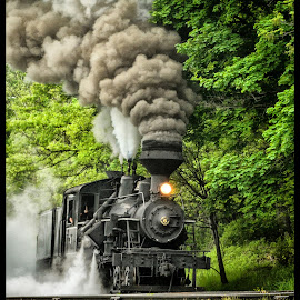 Building The Steam by James Eickman - Transportation Trains