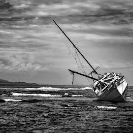 Floundering Shipwreck by Norma Brandsberg - Transportation Boats (  )