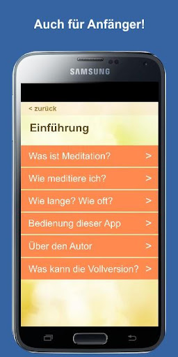 Meditation des Tages (deutsch) - screenshot