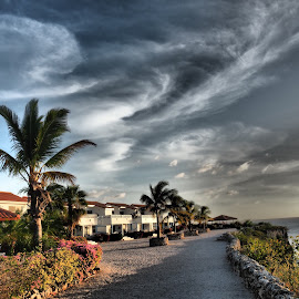 Dramatic Sky. by Ivak Diver - Landscapes Cloud Formations ( clouds, sky, curacao, caribbean, oceanview, relax, tranquil, relaxing, tranquility,  )