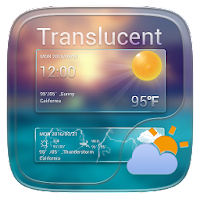 Translucent GO Weather Widget For PC (Windows And Mac)