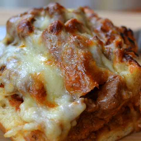 Cheesy Steak Stuffed French Bread