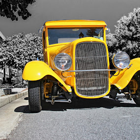 Danny's '29 by JEFFREY LORBER - Transportation Automobiles ( lorberphoto, rust 'n chrome, yellow, 1929, norcross, ford,  )