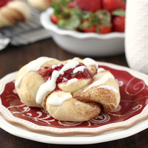 Strawberry Filled Cinnamon Twists