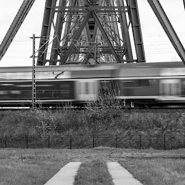 One more train by Timo Herzog - Buildings & Architecture Bridges & Suspended Structures ( metal, train, germany, bridge, fast )