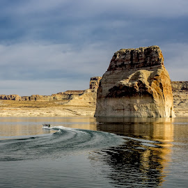 by Boštjan Rakovec - Landscapes Waterscapes ( lone rock )