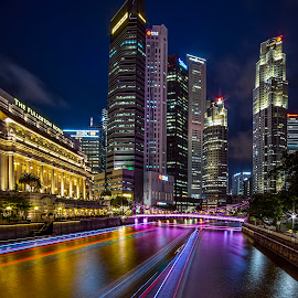 Blue Hour Vista by Gordon Koh - City,  Street & Park  Night