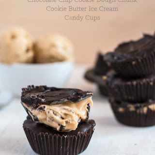 Chocolate Chip Cookie Dough Chunk Cookie Butter Ice Cream Candy Cups