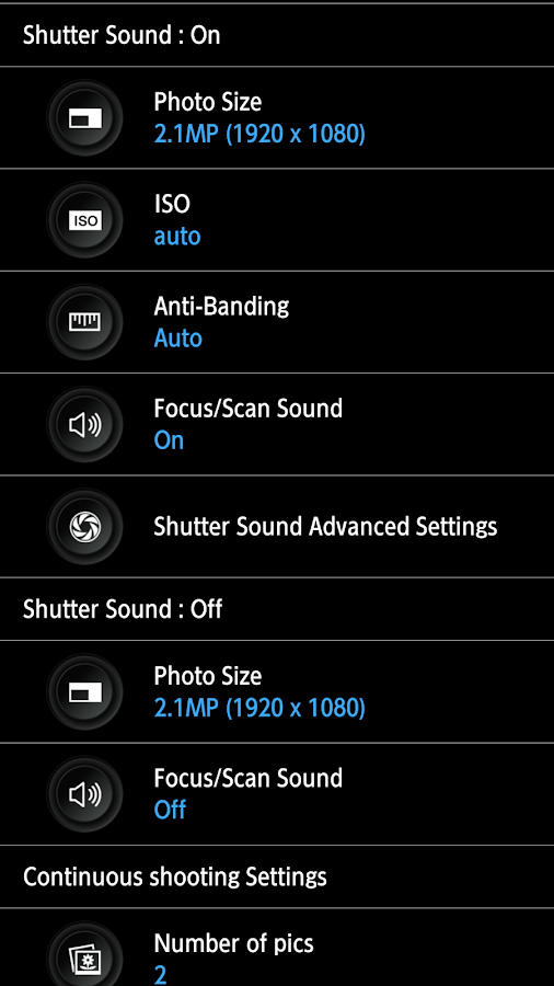 HD Camera Pro - silent shutter Screenshot 8