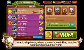 Screenshot of LINE WIND runner