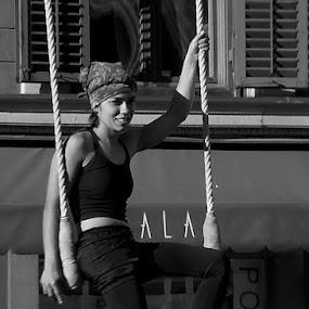Artist        by Renato Dibelčar - People Street & Candids ( girl, slovenija, performance, woman, slowenien, slovenia, art, maribor, artist, city )
