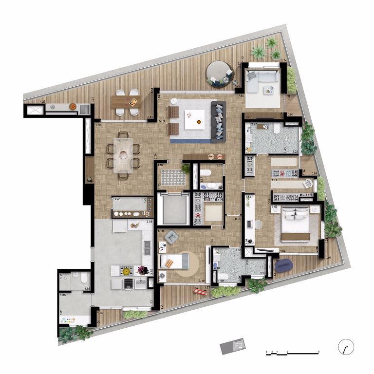Apto Tipo Opção  Final 2 - 210 m²