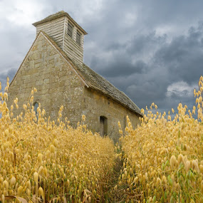 Langley Chapel by Nigel Bishton - Buildings & Architecture Places of Worship ( clouds, spooky, chapel )