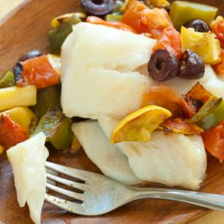 Baked Cod with Summer Vegetables