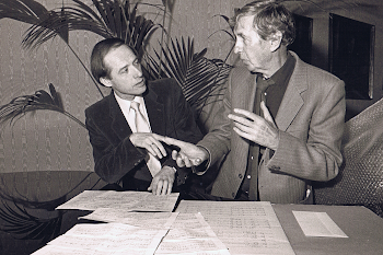 With Michael Tippett discussing Piano Sonata No. 4, 1985