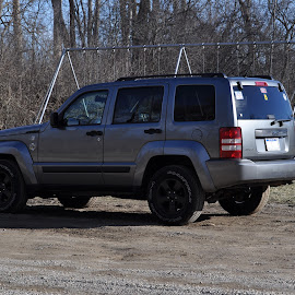 My Jeep Rear Driver's Side by Steve Evans - Transportation Automobiles ( truck, jeepliberty, jeep, automobile, suv )