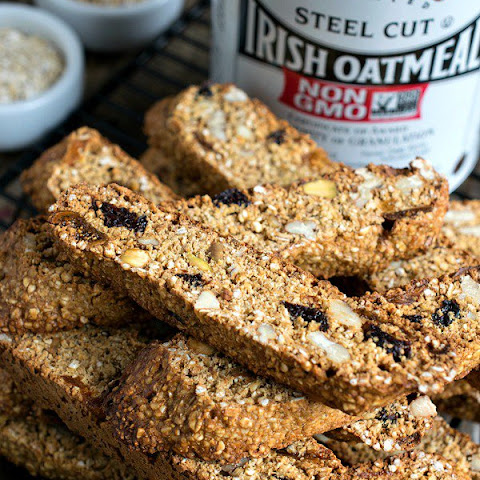 Steel Cut Oats Breakfast Biscotti