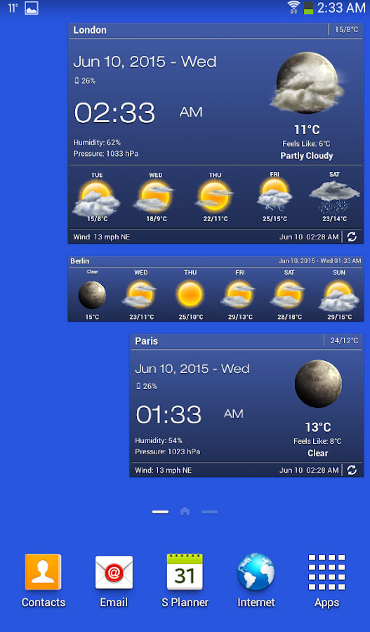 Weather & Clock Widget for Android Ad Free Screenshot 12