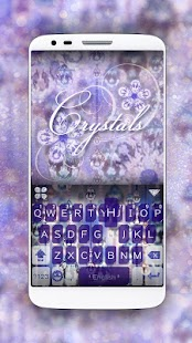 Crystal iKeyboard Theme - screenshot
