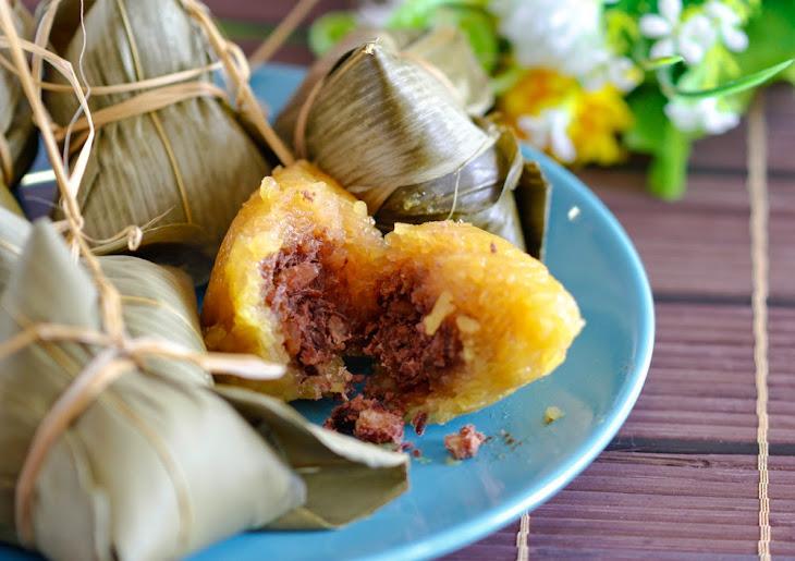 Red bean kee chang/ ki Chang/ kan sui chang Makes 14 dumplings Recipe ...